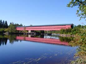 Le pont couvert Savoyard à Grand-Remous, Québec
