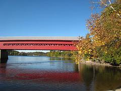 Le pont couvert à Wakefield, Québec