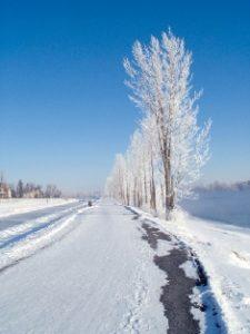Chambly - bande du Canal en hiver