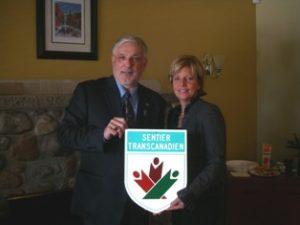 Richard avec la mairesse de Rosemere 2009
