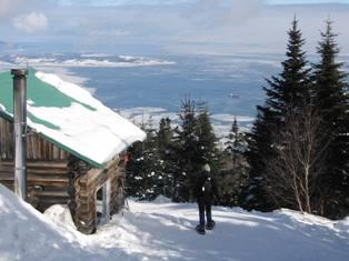 Le sentier des Caps de Charlevoix en hiver