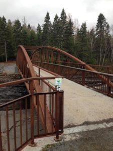 New 40-metre pedestrian footbridge in Trowbridge Falls Park, Thunder Bay.