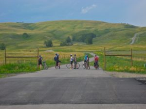 Glenbow Ranch Provincial Park cyclists