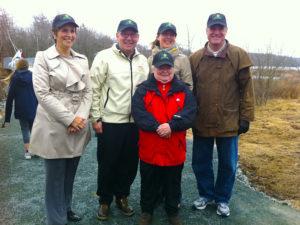 2013 04 20 NS Bissett Trail Officials Wearing TCT Hats by Vanda Jackson