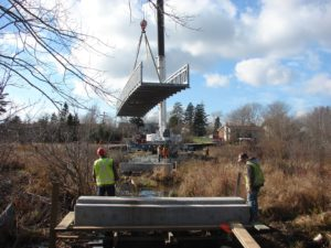 Bissett Trail bridge in the air