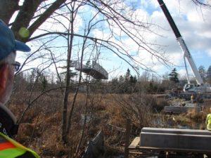 Bissett Bridge lifted off truck