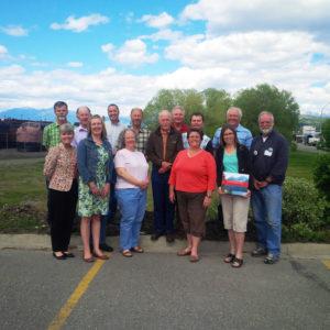L'équipe du comité Vision 2017 de Colombie-Britannique à Cranbrook, C.-B.