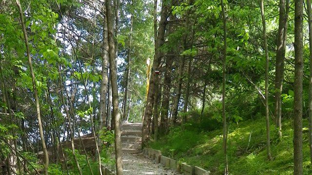 Le Sentier du Gouffre dans la région de Charlevoix.