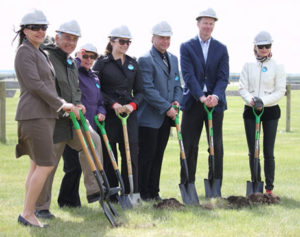 From left to right: Candace Wasacase-Lafferty, Board Chair, Wanuskewin Heritage Park; Ken Pontikes and Darlene Bessey, Meewasin Matters Campaign Committee Co-Chairs; Mairin Loewen, City Councillor, City of Saskatoon; Lloyd Isaak, CEO, Meewasin Valley Authority; Bill Johnson, Sr. Director Public Affairs, Potash Corp; Lori Leach, Board Member, TCT.