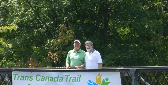 Jim Paterson (Pan Am Legacy Trails Coordinator Trans Canada Trail Ontario); Al MacPherson (Chair, Trans Canada Trail Ontario)