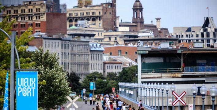 Le sentier dans le Vieux-Port de Montréal