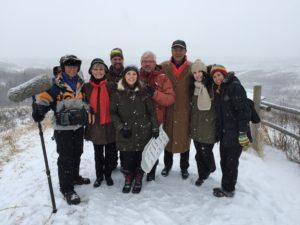 Shaw crew, TCT President & CEO Deborah Apps, and Tom Jackson, November 9, 2014