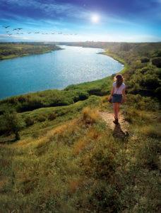 Meewasin Trail near Saskatoon, overlooking the South Saskatchewan River Valley