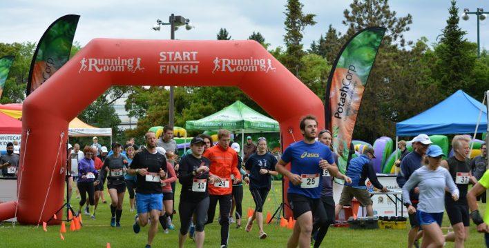 Coureurs lors du marathon PotashCorp de la maire de Saskatoon du 21 juin 2015