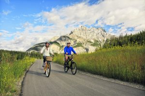 Bike ride on Banff Legacy Trail