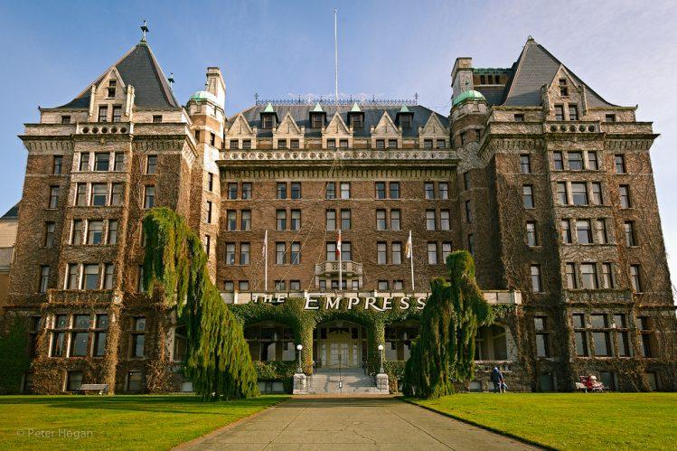 Fairmont Empress Hotel, Victoria, a haunted hotspot in BC.