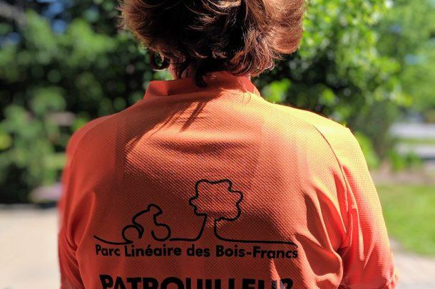 Maillot Orange Patrouilleur Parc Linéaire des Bois-Francs