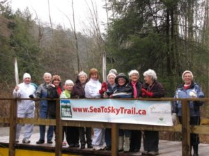 Valerie Pringle with the Heart & Stroke Foundation walking group