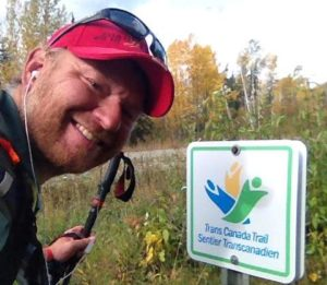 Dana Meise on his trek along the northern leg of the TCT, October 2, 2014.