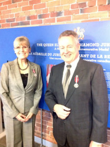 Deborah Apps and Paul LaBarge are the proud recipients of Diamond Jubilee Medals. Ottawa, October 31, 2012.