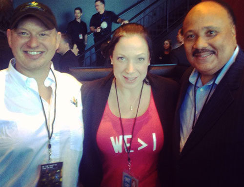 From left: Dana Meise, Janine Pintar (Dana's fiancée) and Martin Luther King III