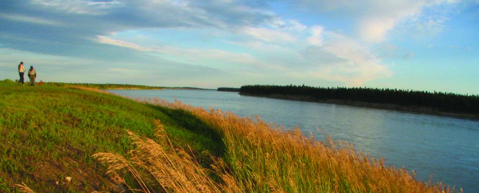 View of the Mackenzie River in the Northwest Territories