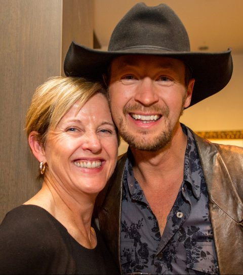 Our hostess, Robyn Ritchie, with TCT National Champion Paul Brandt