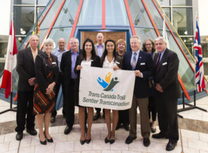 TCT Board of Directors at the reception following the second annual meeting of the Saskatchewan Vision 2017 Trail Committee, Regina, Saskatchewan, Oct 22, 2015. Photo: Michael Bell.