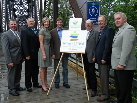 Premier Shawn Graham and representatives on Fredericton