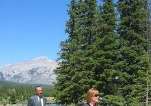 Valerie Pringle at the Banff Legacy Trail opening