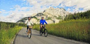 Bike ride on Banff Legacy Trail