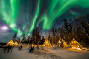 Image of aurora in Yellowknife, NT