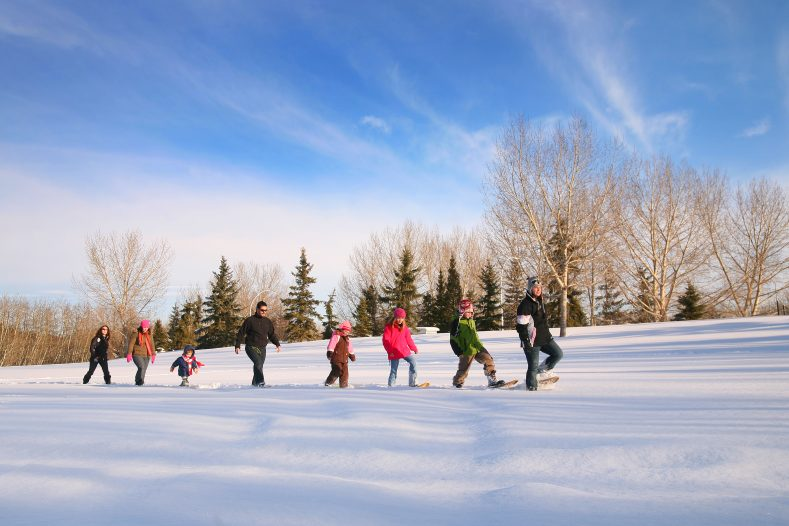 Banish the winter blues by trying snowshoeing