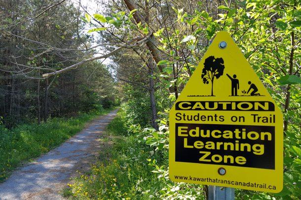 Sign on the 50 km long Kawartha Trail
