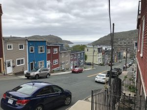 A view on a colourful street in st John's newfoundland