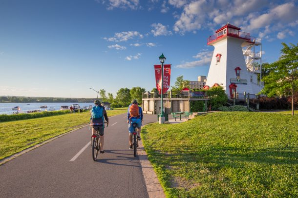 Cycling along the Trail in Fredericton